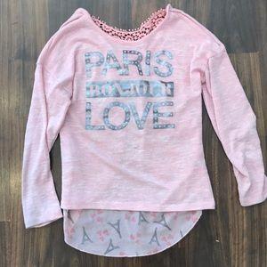 Self esteem girls pink Paris blouse size medium